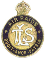 London Telephone Service badge allowing the wearer to be on the streets during an air raid